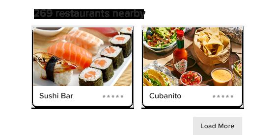 Naponta változó Cloud Canteen éttermek